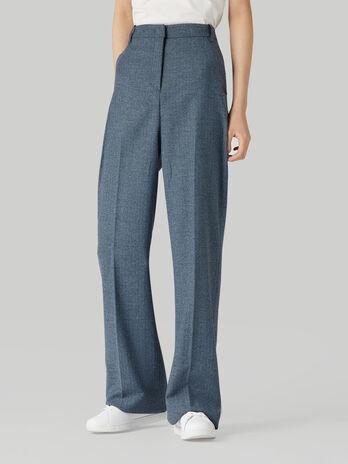 Pantalon de mezcla de lana de espiga