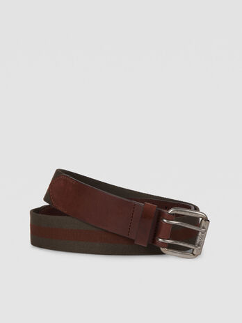 Free Design 3 belt in cotton and leather