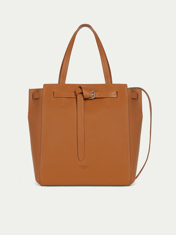 Medium Gita tote bag in matte leather with tied buckle