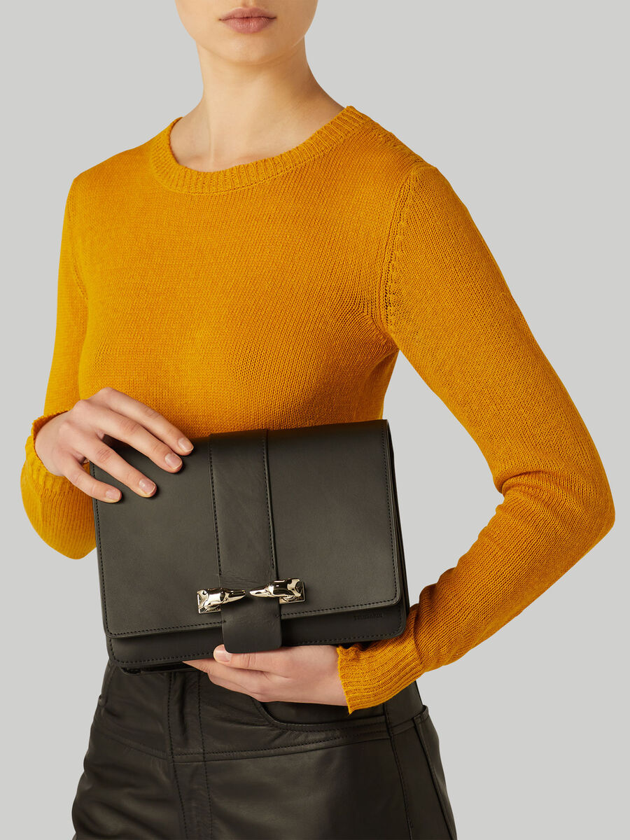 Leather and suede Milano crossbody bag