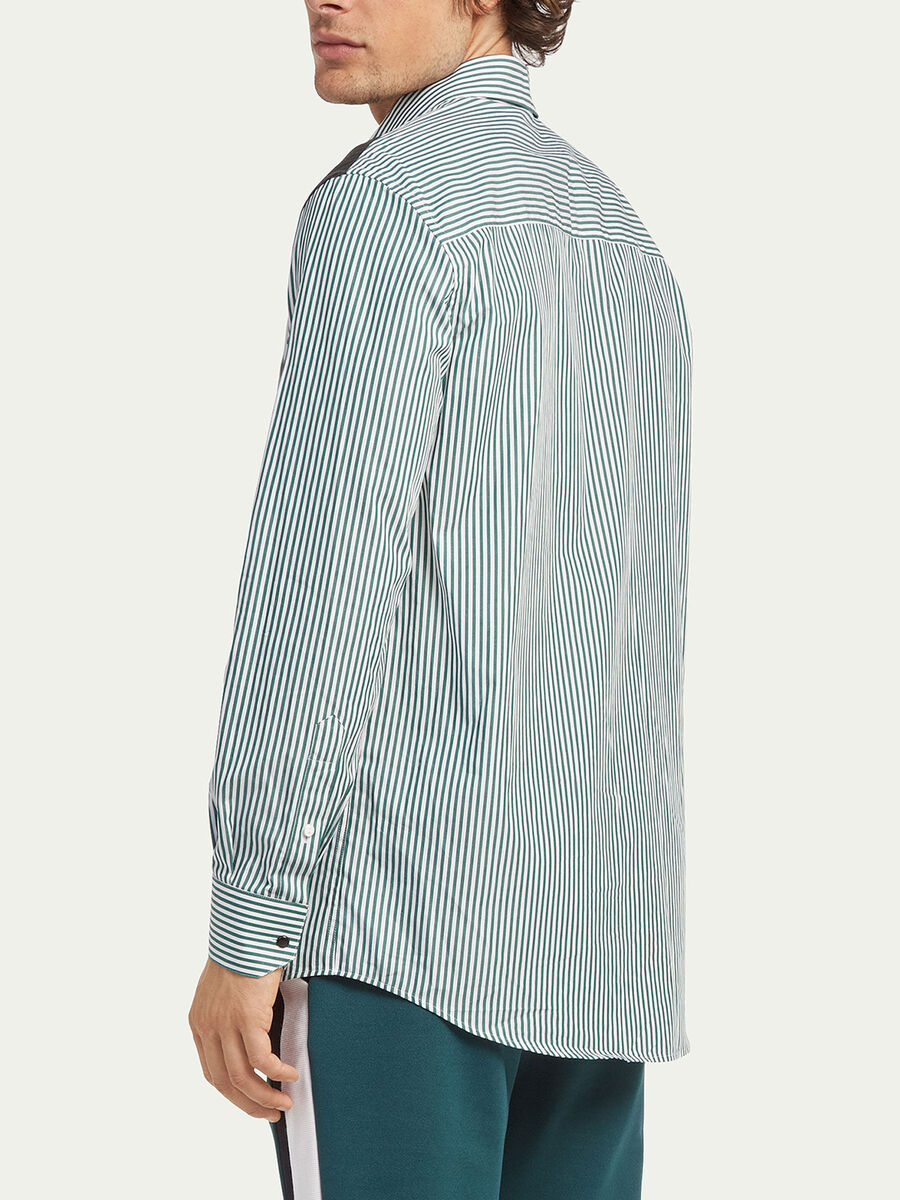 Oversized striped poplin shirt