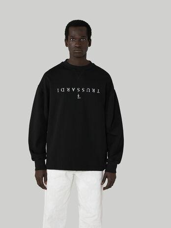 Sweat-shirt coupe ultra over en coton avec lettering