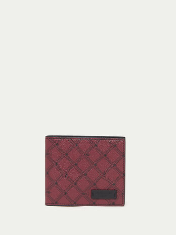 Leather Monogram wallet with coin pocket