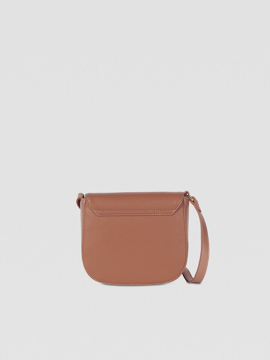 Small Amanda crossbody bag in smooth faux leather