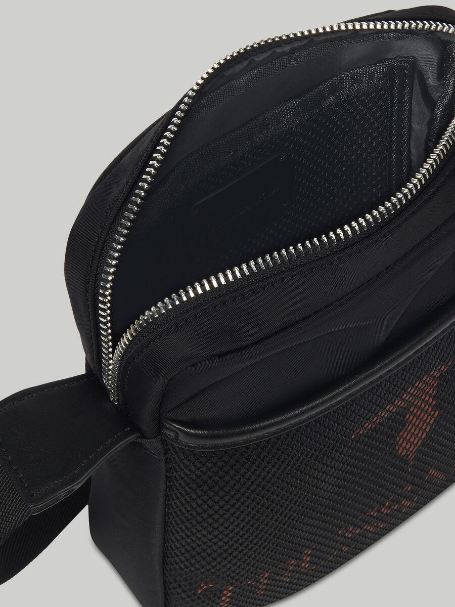 Schultertasche aus Nylon mit Logo