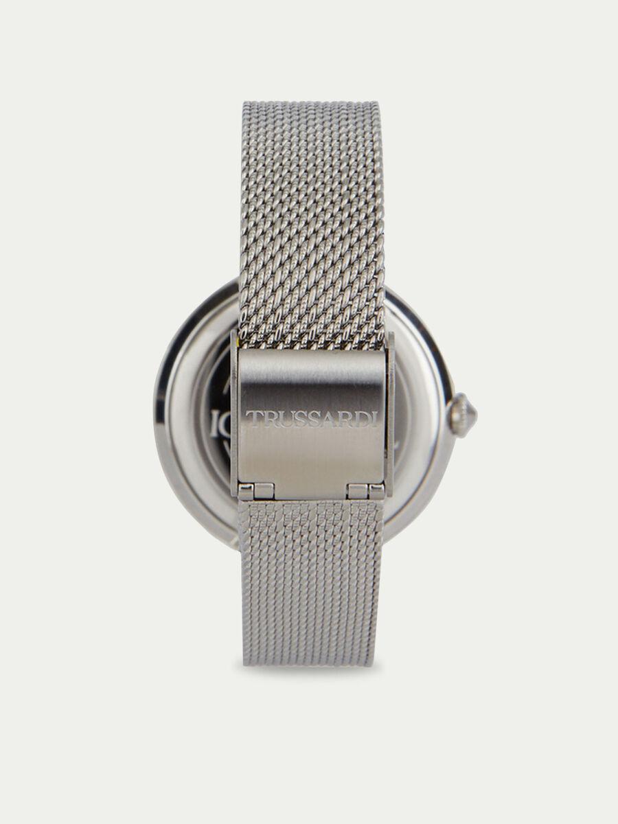 T-Exclusive watch with herringbone mesh strap