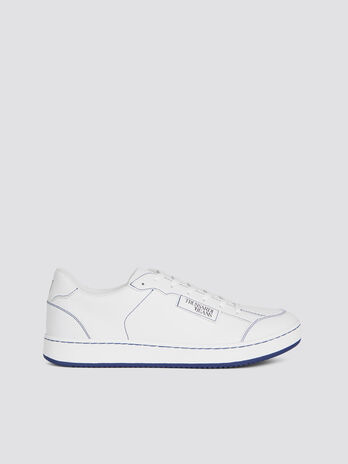 Nappa sneakers with contrasting stitching