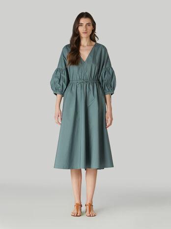 Vestido midi de popelina de algodon