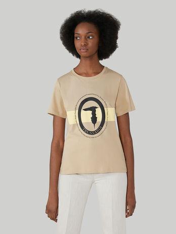 T-Shirt im Regular-Fit aus Baumwolljersey