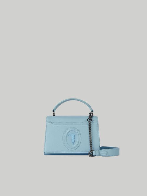 Small Dahlia crossbody bag in faux saffiano leather