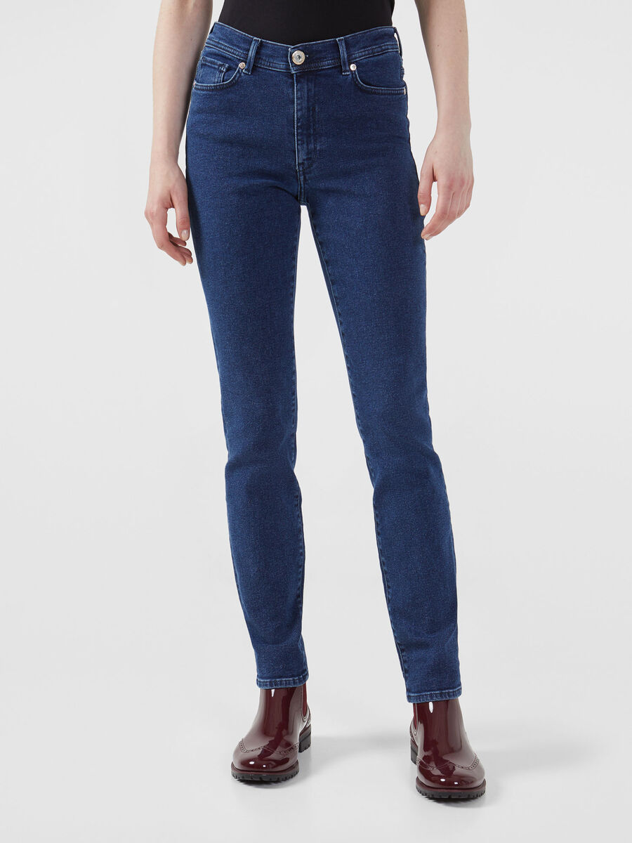 Skinny 105 jeans in 80s blue denim