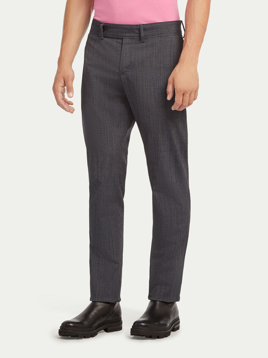 Pantaloni in malfile stretch melange