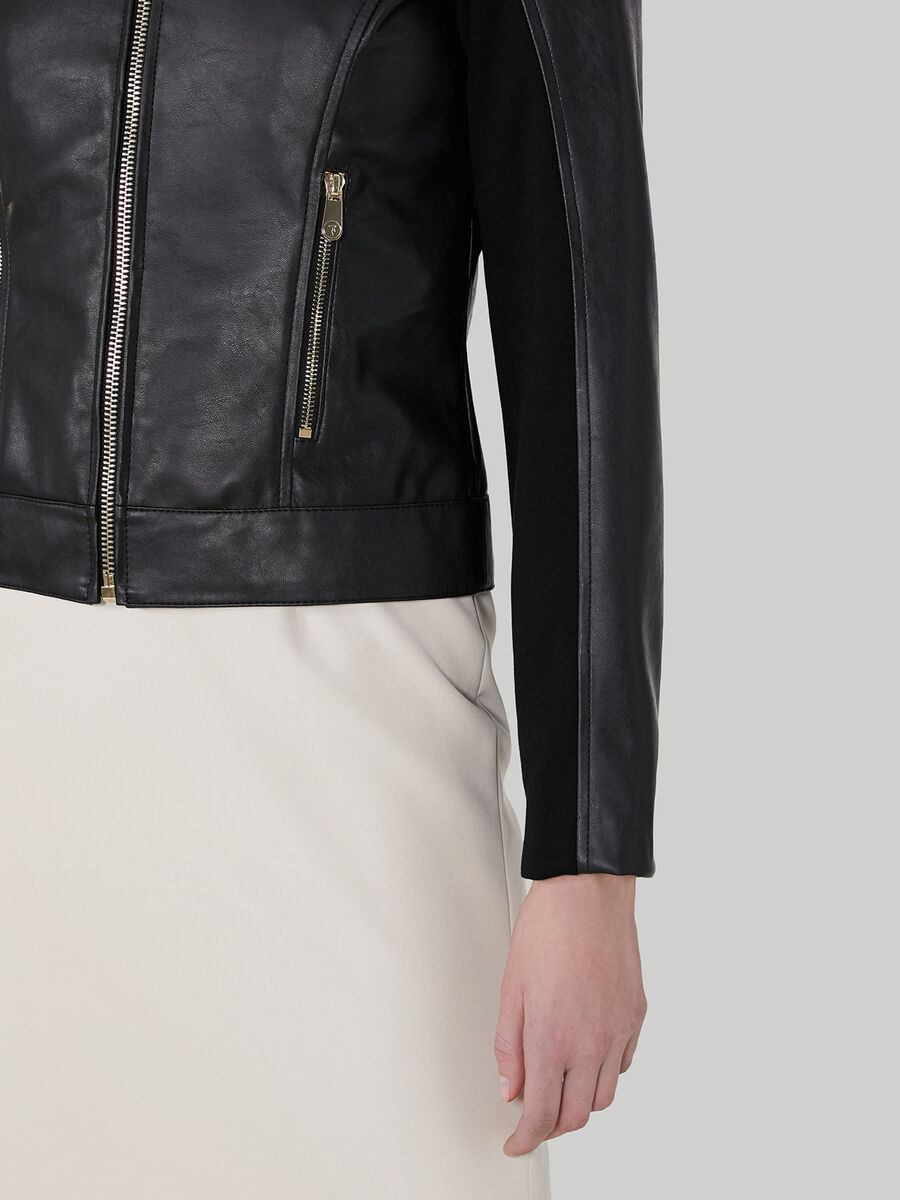 Giacca in similpelle soft con zip