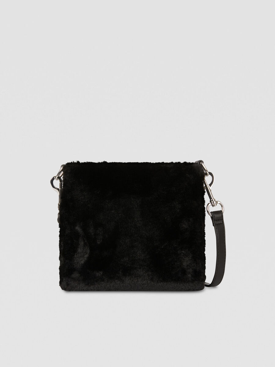 Small T-Wow bucket bag in faux fur