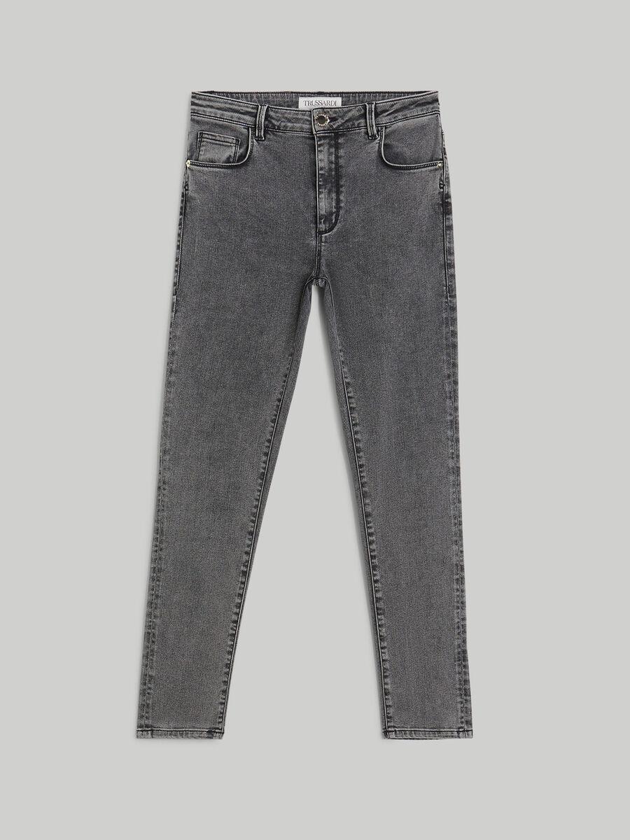 Super-skinny 206 jeans in marbled denim