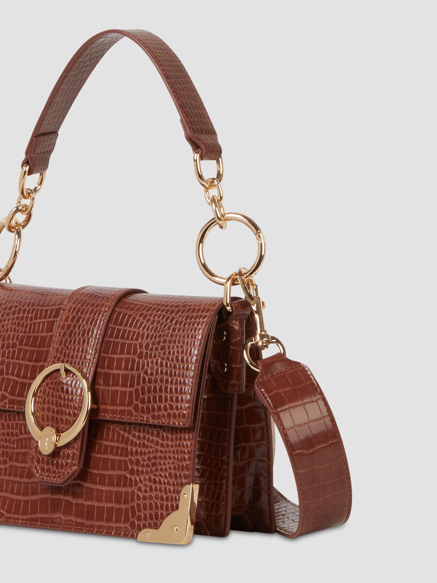 Cross-body small Miami in similpelle stampa coccodrillo