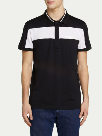 Regular fit jersey polo shirt with contrasting band