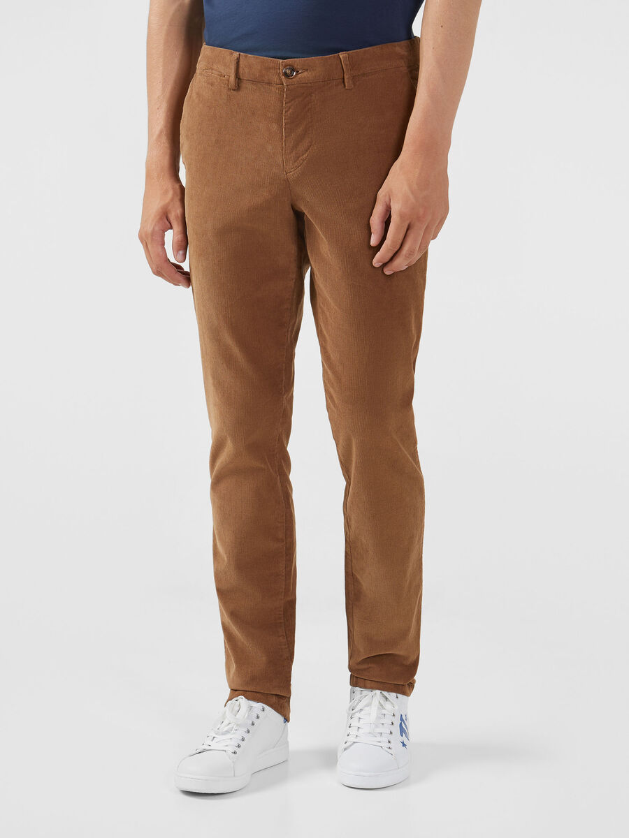 Pantalone Aviator in velluto a coste sottili stretch