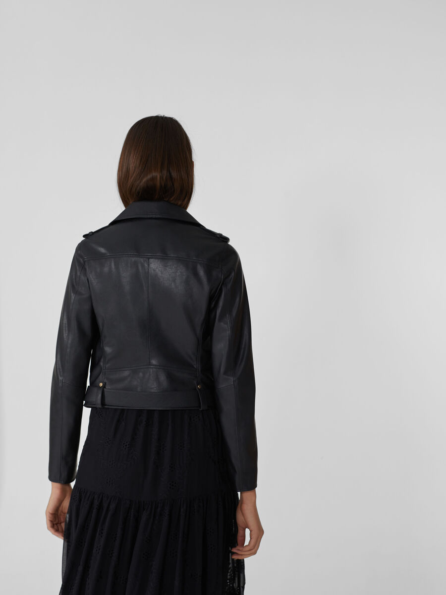Motorcycle jacket in similpelle soft