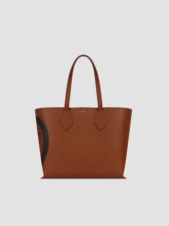 Medium saffiano leather shopper