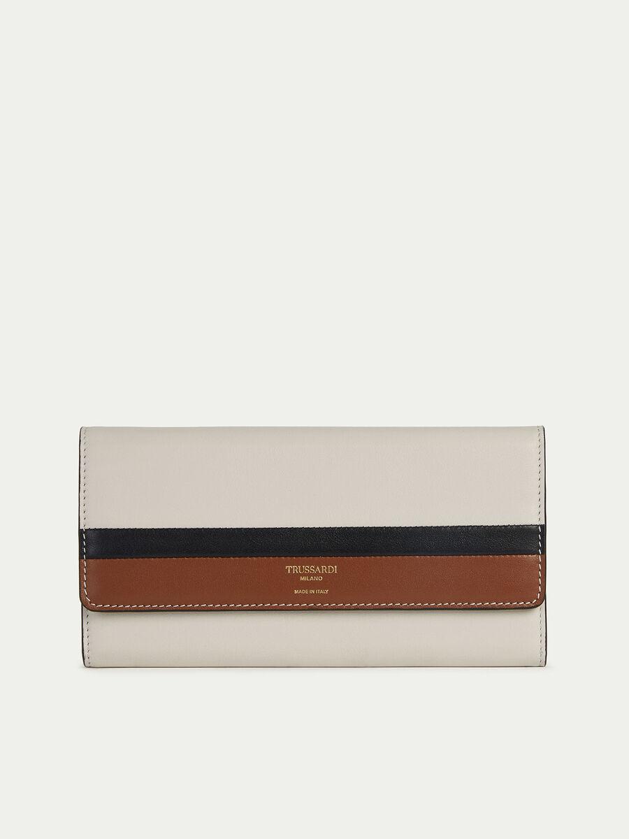 Portafogli Nail Continental in colorblock con logo