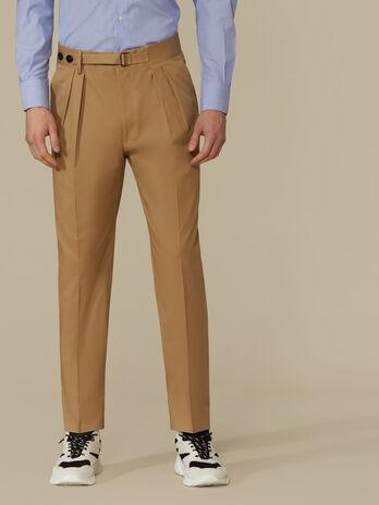 Pantalone in cotone con pinces