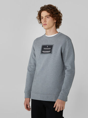 Regular fit pure cotton crew neck sweatshirt