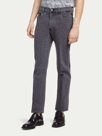 Stone washed stretch jeans