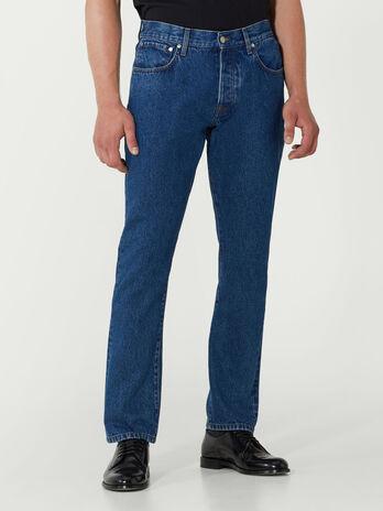 Loose fit medium stonewash denim jeans