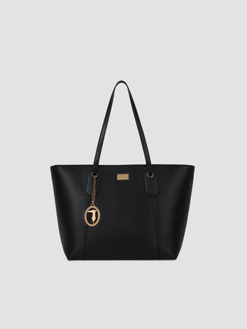 Medium faux leather Monaco shopper