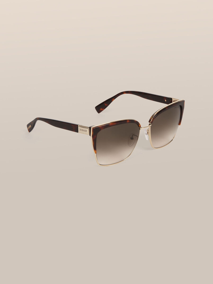 Square sunglasses in metal and acetate