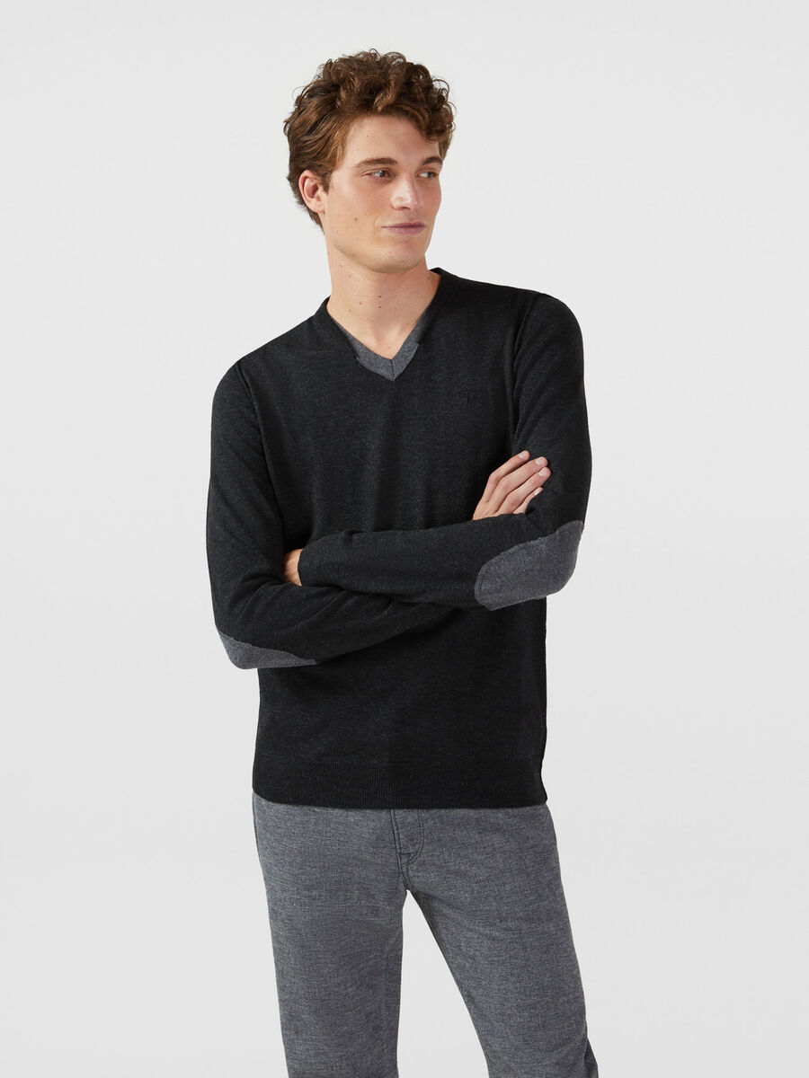 Regular fit cashmere blend pullover