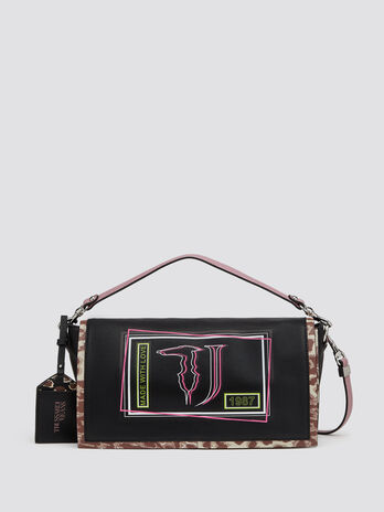 Liquirizia shoulder bag with logo print