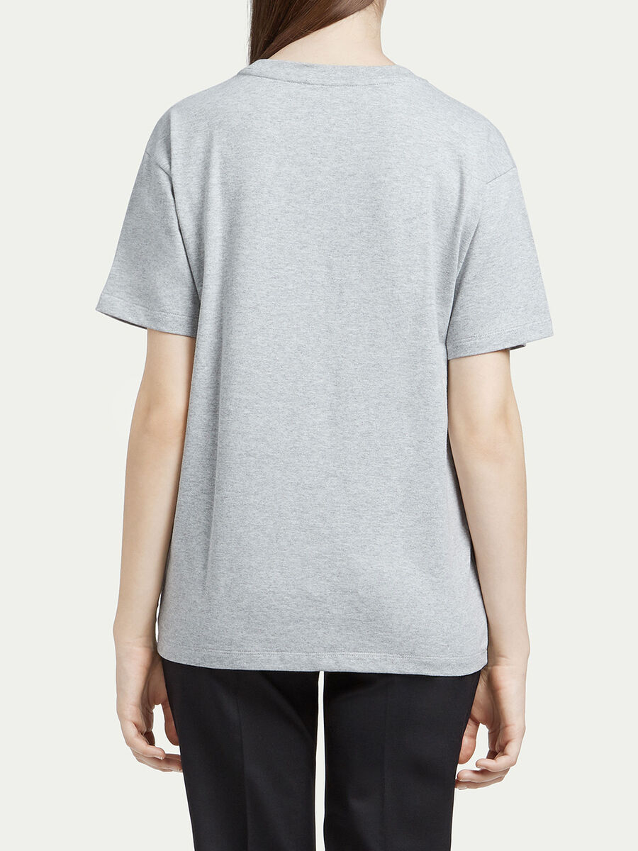 Compact jersey T shirt with logo print