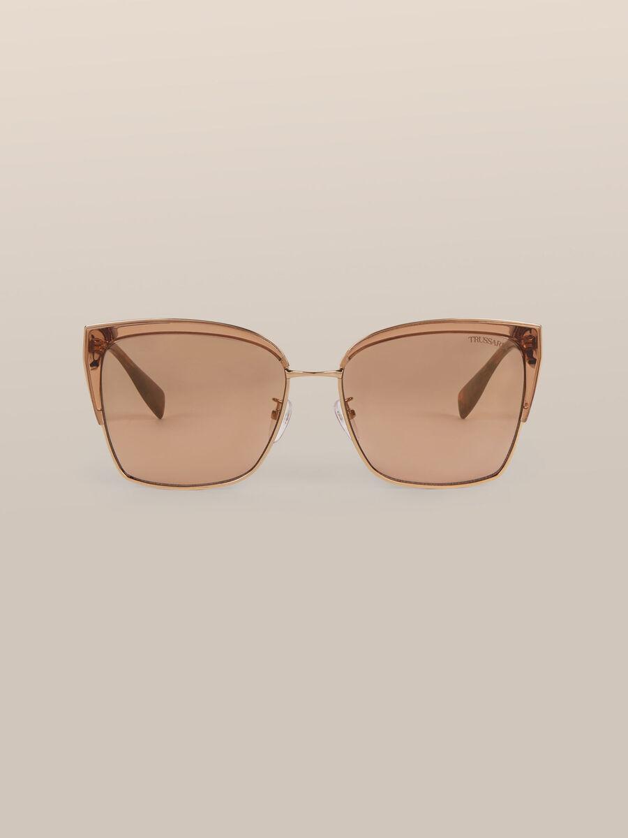 Square sunglasses in metal and acetate