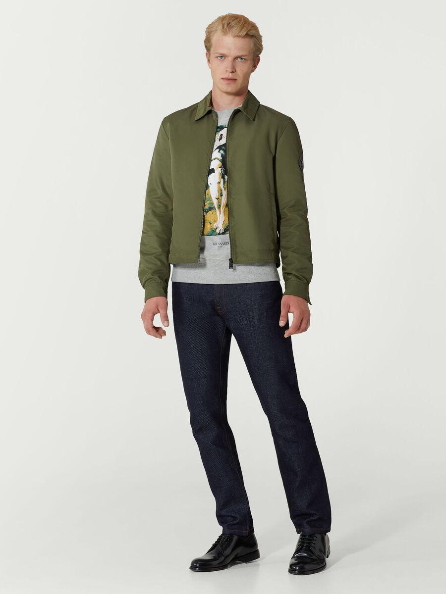 Rundhals Sweatshirt im Regular Fit aus Baumwolle