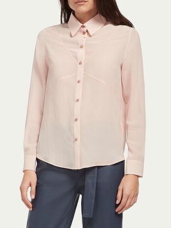 Pure silk crepe de chine shirt