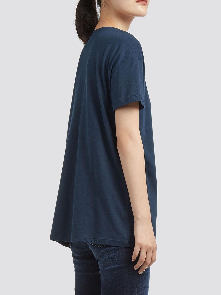 T Shirt aus Baumwolle mit Lettering Print