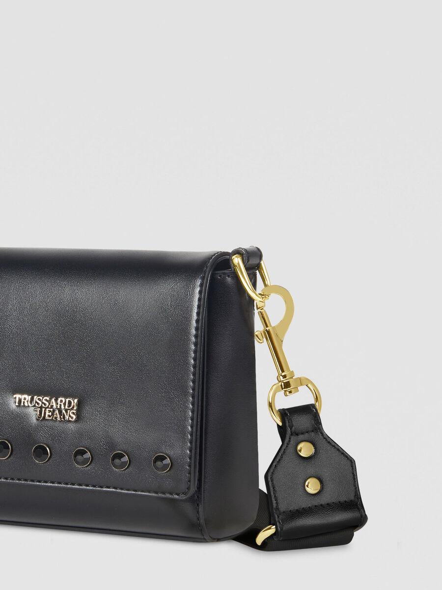 Medium T-Easy Shine Cacciatora bag in faux leather
