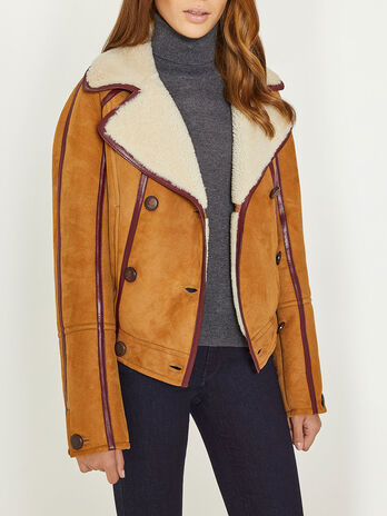 Jacket in soft shearling