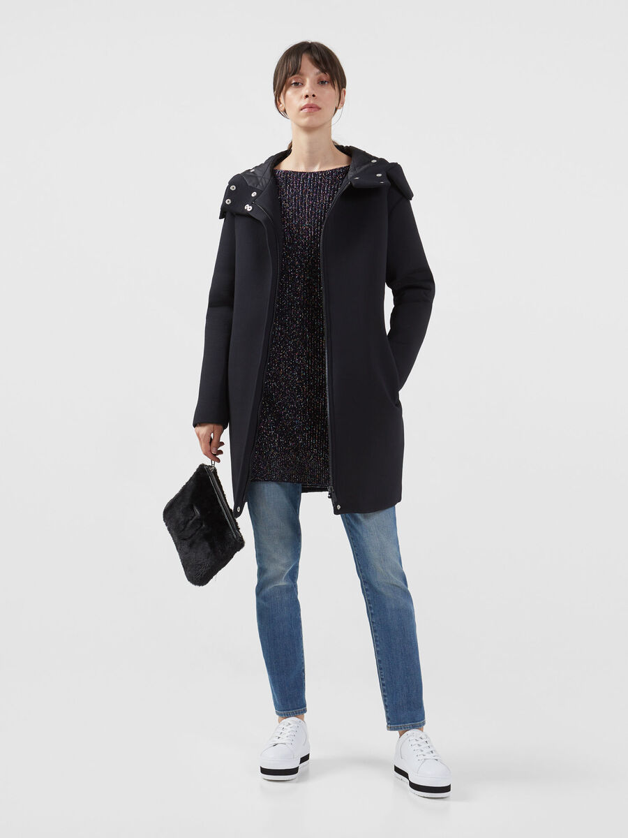 Oversized wool and lurex pullover