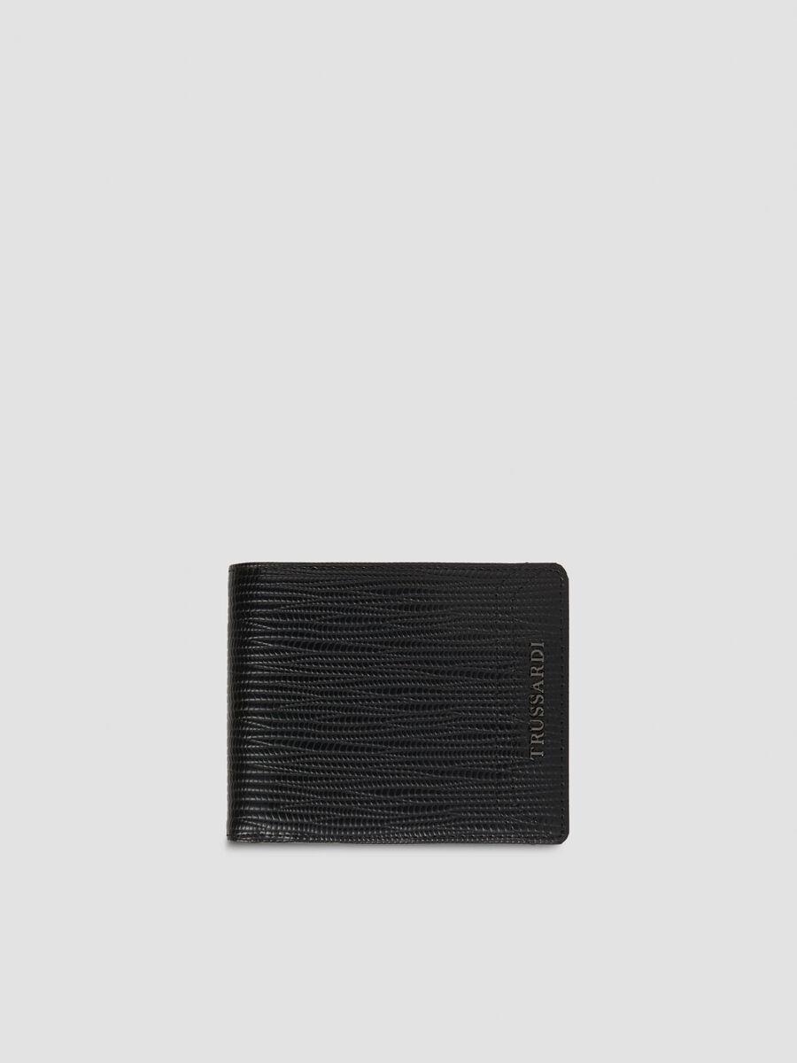 Zweiteilige Geldboerse aus Saffian Kunstleder