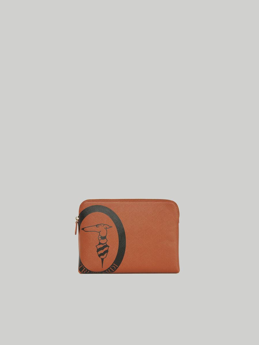 Beauty case Logo Pop medium in similpelle saffiano