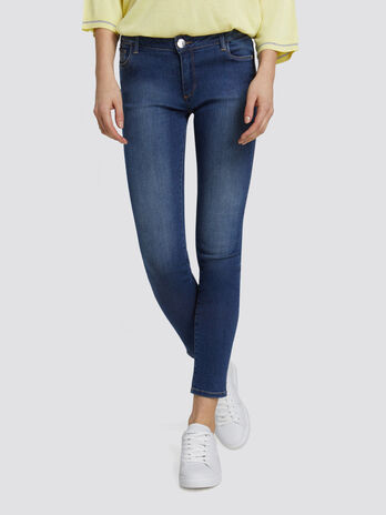 Super skinny Basic 206 jeans in blue washed denim