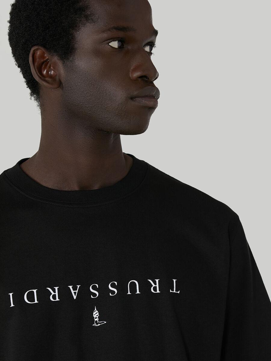T-shirt coupe over en jersey de coton