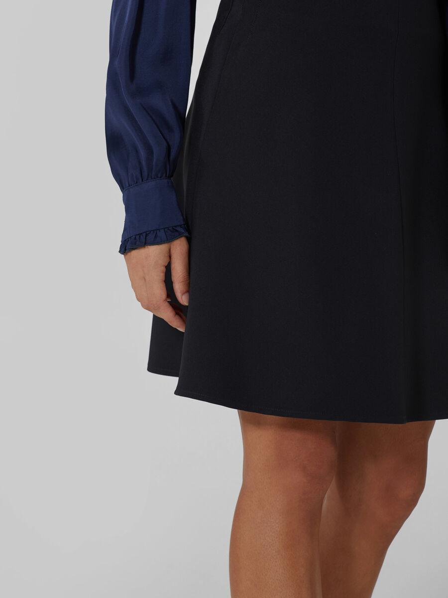 Flared technical cady skirt