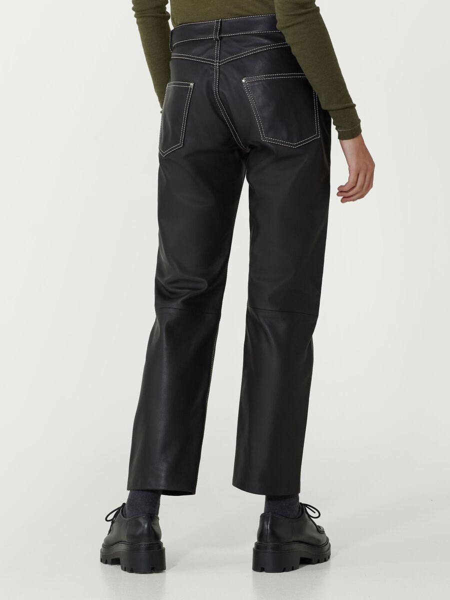 Pantalone in nappa sport