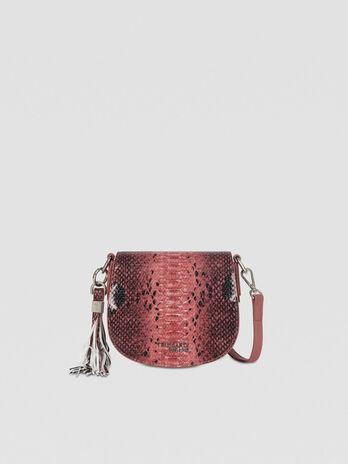 Small Iris Cacciatora bag in python-print faux leather