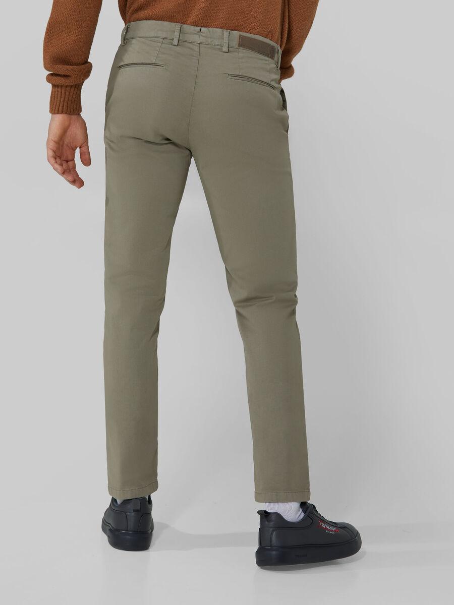 Cotton sateen Aviator trousers