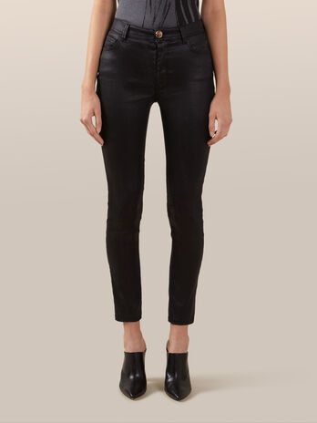 Jeans skinny fit in denim effetto spark
